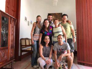 Diana y amigos mexicanos y norteamericanos